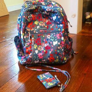 Vera Bradley Campus Backpack with Zip ID/Lanyard